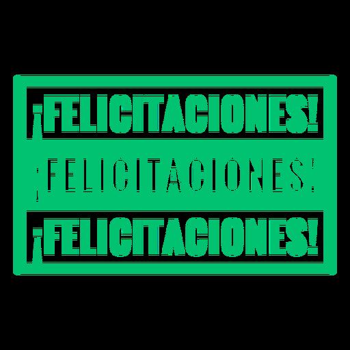 Congratulations spanish badge