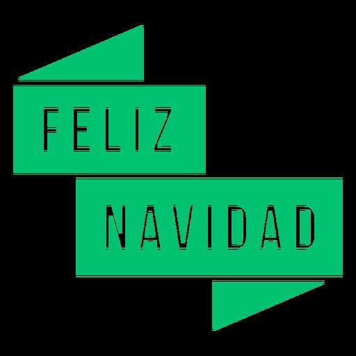 Feliz navidad text badge Transparent PNG