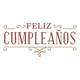 Classic style feliz cumpleaños badge banner
