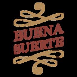 Banner do emblema Buena suerte