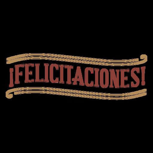 Classic style felicitaciones badge