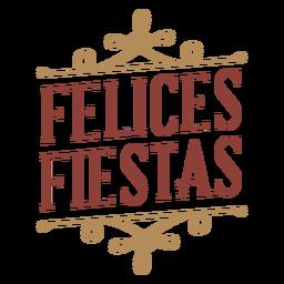 Felices fiestas badge banner