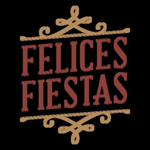 Bandera de la insignia de las fiestas de Felices