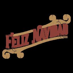 Feliz navidad badge banner