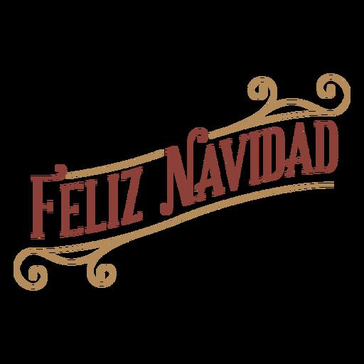 Feliz navidad badge banner Transparent PNG