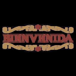 Banner do emblema Bienvenida