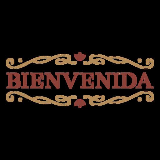Bienvenida badge banner Transparent PNG