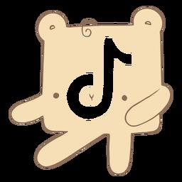 Lindo personaje del logo de tiktok