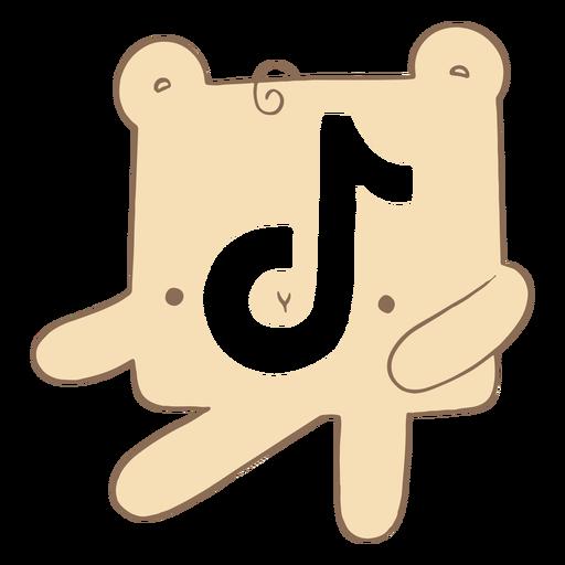 Cute tiktok logo character