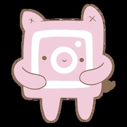Lindo personaje de logo de instagram