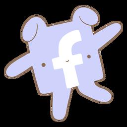 Lindo personaje del logo de facebook