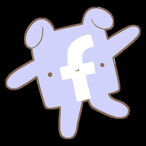 Cute facebook logo character