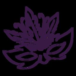 Máscara de mardi gras dibujada a mano con plumas