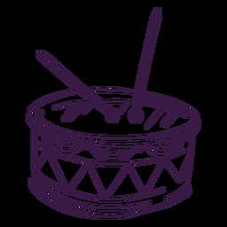 Arte da linha de instrumentos musicais de bateria