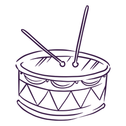 Drums music instrument line art