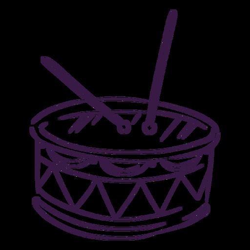 Drums music instrument line art Transparent PNG