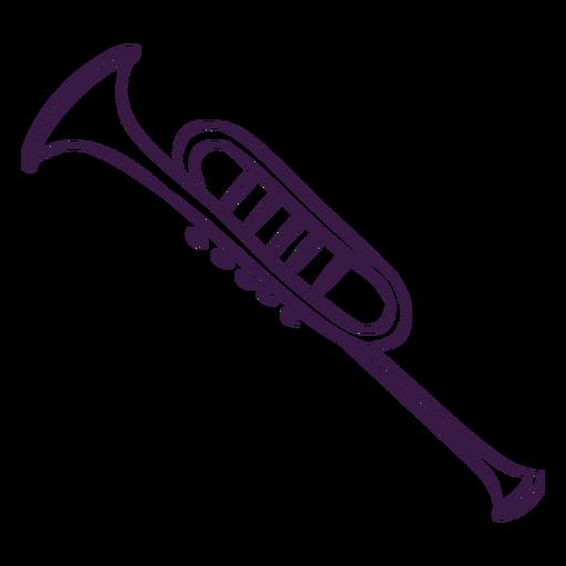 Trumpet instrument line art