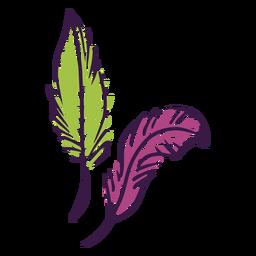 Mardi gras feathers doodles