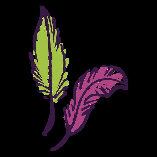 Mardi gras feathers doodles Transparent PNG