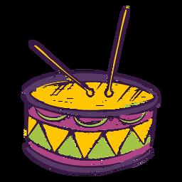 Doodle de instrumento musical de bateria