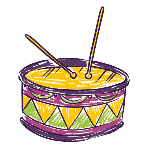 Drums music instrument doodle Transparent PNG