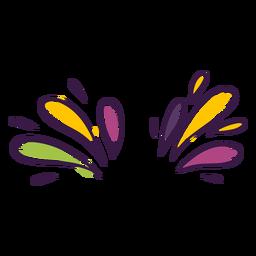 Decoração de gotas coloridas
