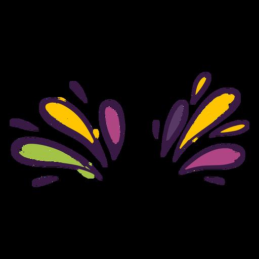 Colorful drops decoration Transparent PNG