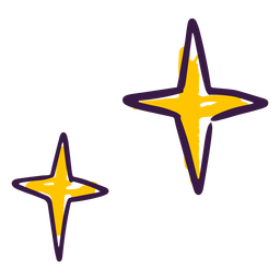 Star glitter doodle