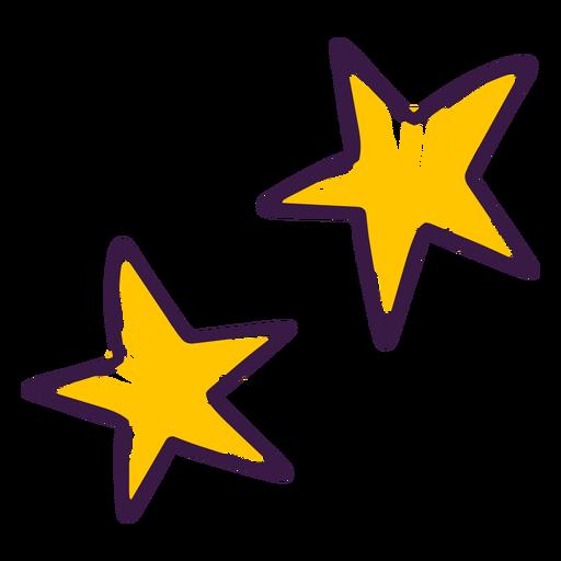 Doodle de decoración de estrellas
