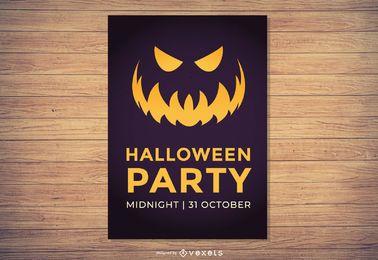 Plantilla de fiesta de halloween