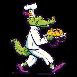 Chef de cocodrilo de mardi gras