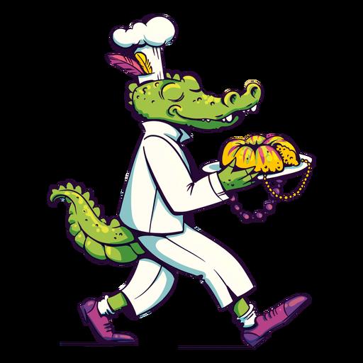 Mardi gras alligator chef