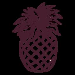Pineapple fruit line art