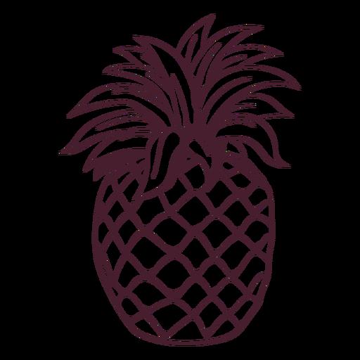 Pineapple fruit line art Transparent PNG