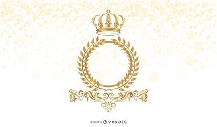 Marco dorado con corona