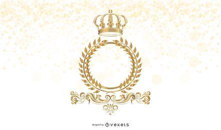 Moldura dourada com coroa