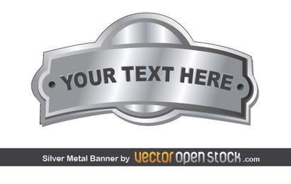 Silber Metall Banner Abzeichen
