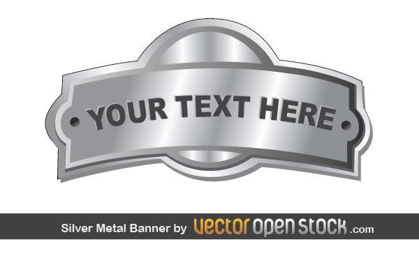 Silver Metal Banner Badge