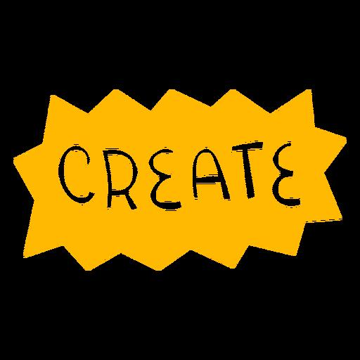 Create hand written badge