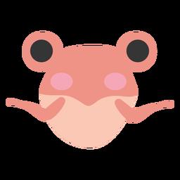 Pink frog cute