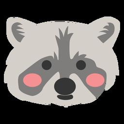 Raccoon head cute