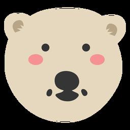 Polar bear head cute