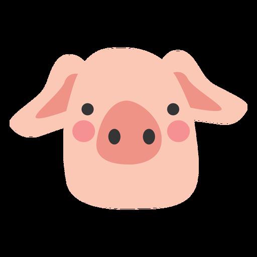 Pig head cute