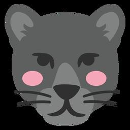 Black panther head cute