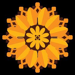Geometrische Blume der Sonnenblume