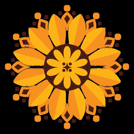 Sunflower geometric flower Transparent PNG