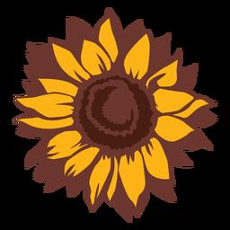 Dibujado a mano girasol naturaleza flor