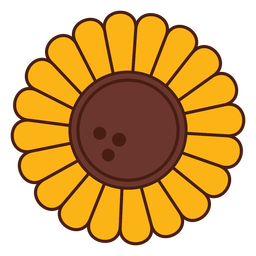 Sunflower cartoon flower