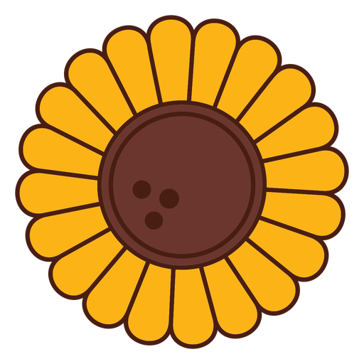 Flor de dibujos animados de girasol Transparent PNG