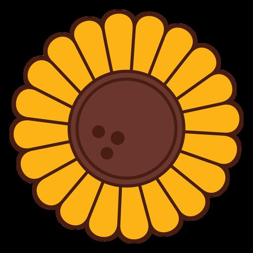 Flor de dibujos animados de girasol